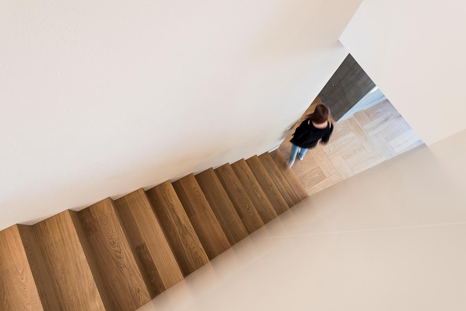 Treppen aus Parkett